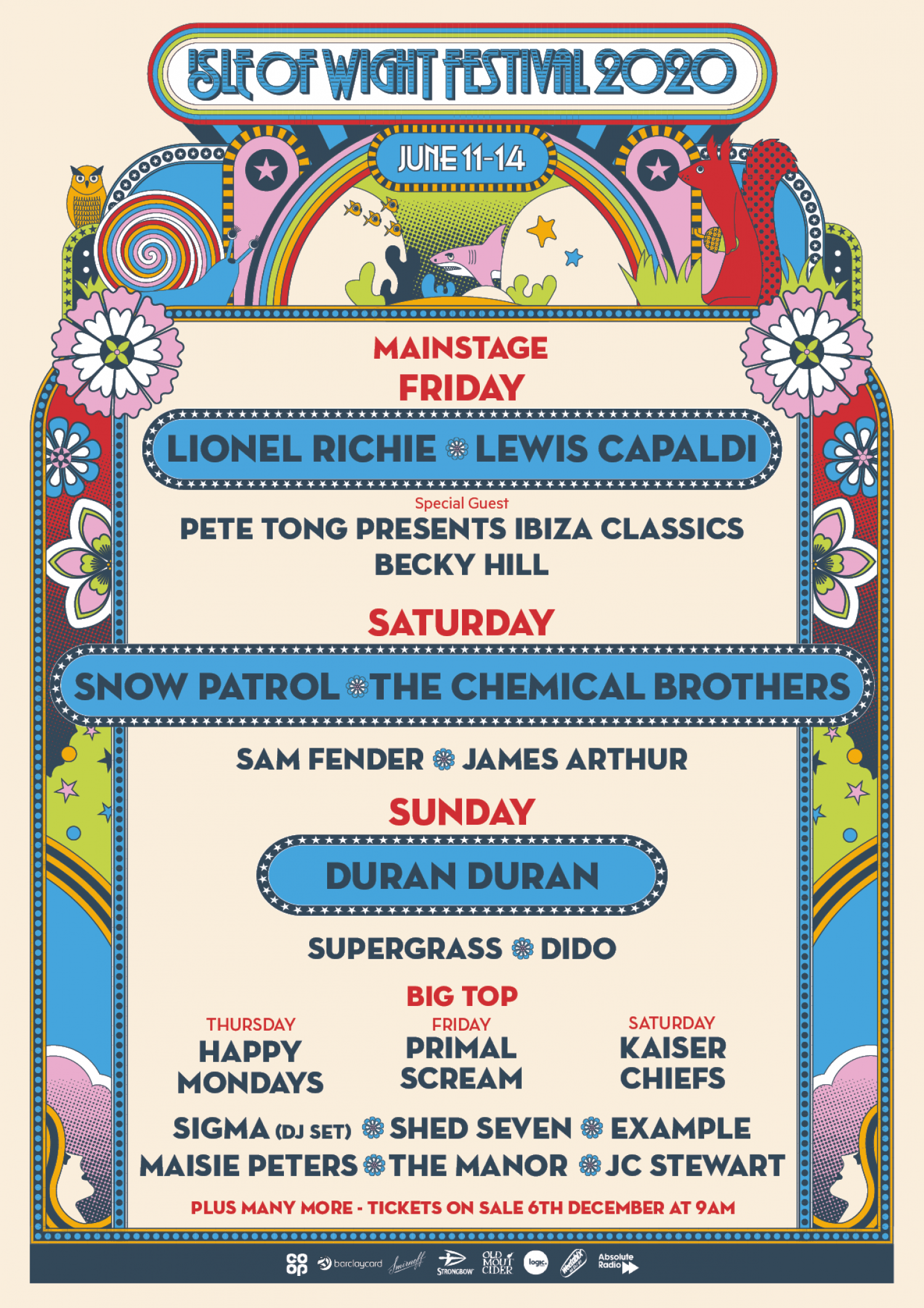 The Isle of Wight 2020 line up is here, and it's Quite Something