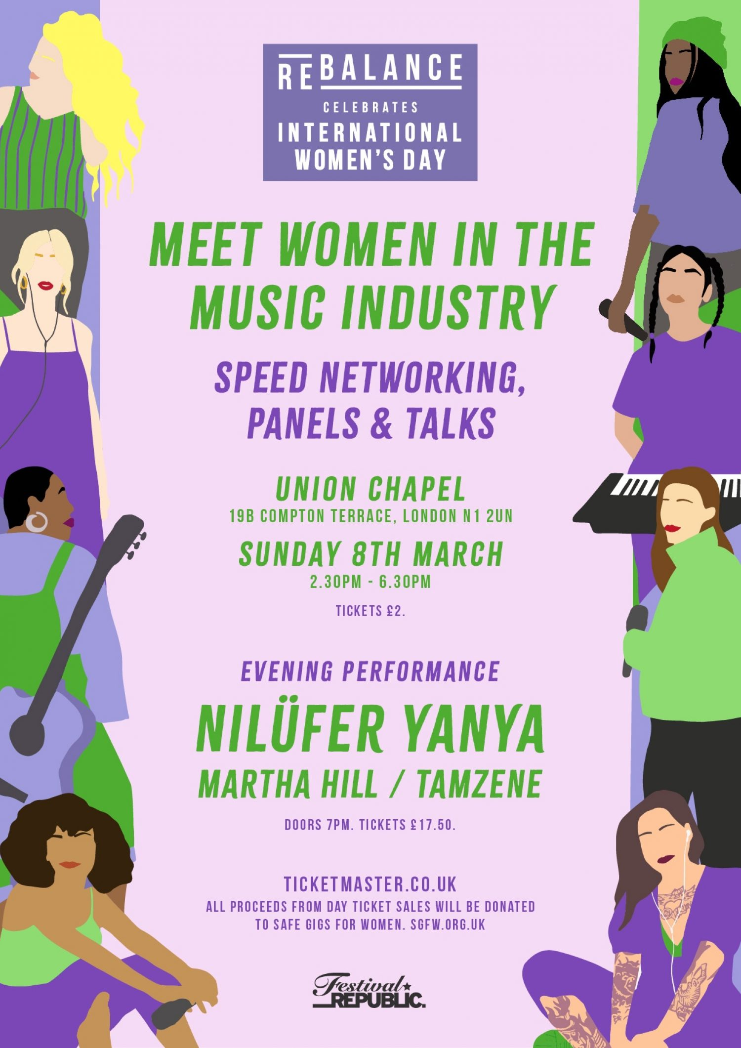 Festival Republic have launched a brand new event, ReBalance Celebrates International Women's Day