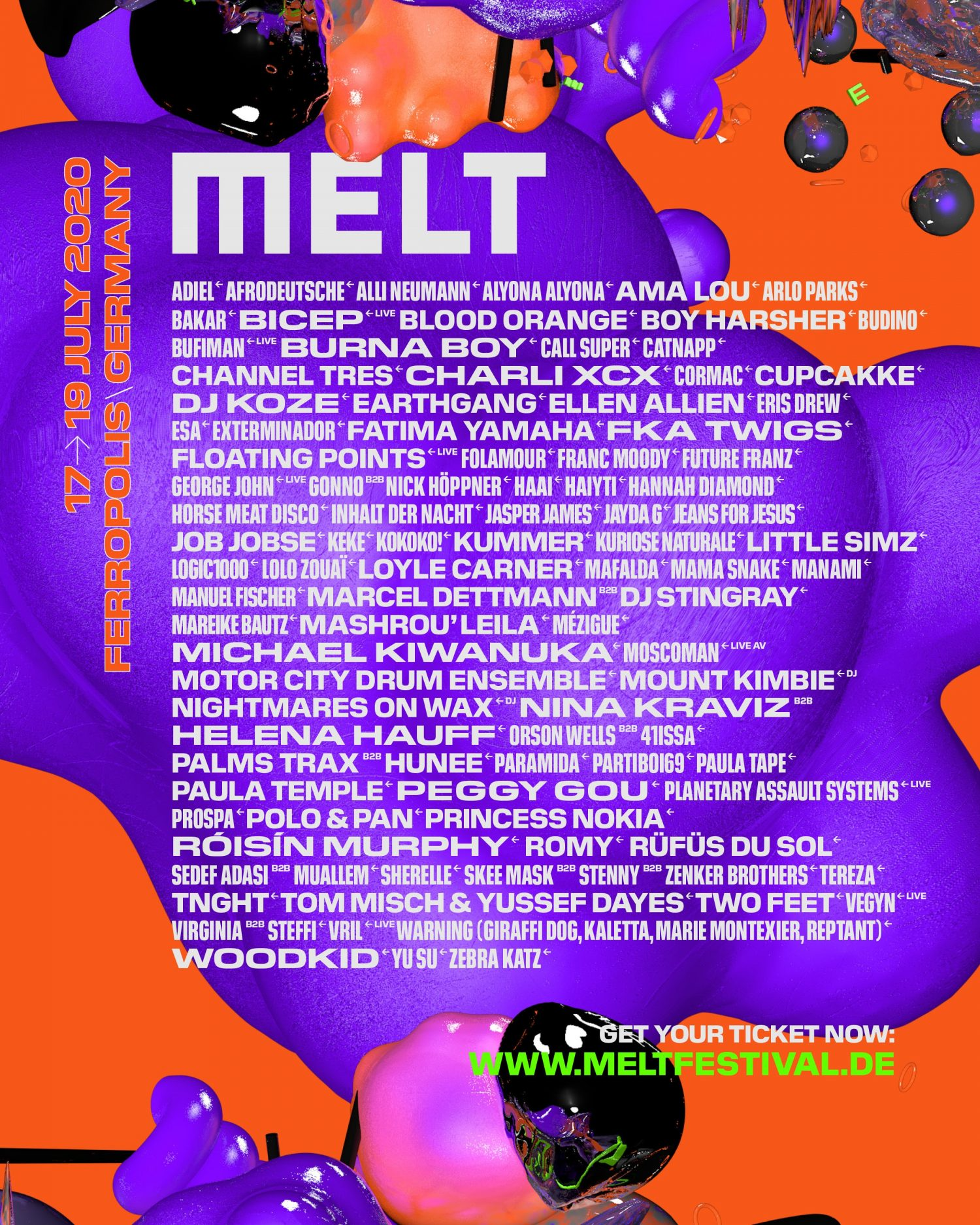 German festival Melt has announced FKA twigs, Charli XCX and more